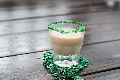 creamy irish balls cocktail, baileys, irish cream liqueur, fireball whisky, cinnamon whisky