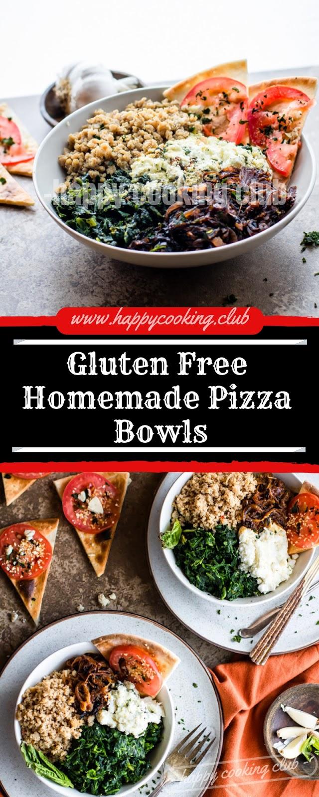 Gluten Free Homemade Pizza Bowls