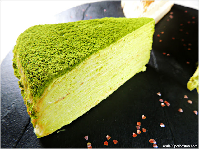 Postre Cena San Valentín: Green Tea Mille Crêpes