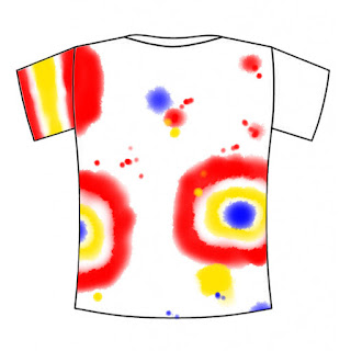 Colourful tie-dyed t-shirt