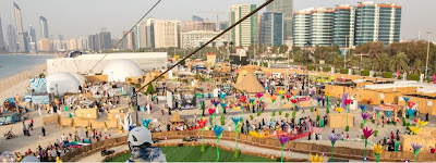 Source: Department of Culture and Tourism, Abu Dhabi website. An aerial view of the Mother of the Nation Festival 2017.