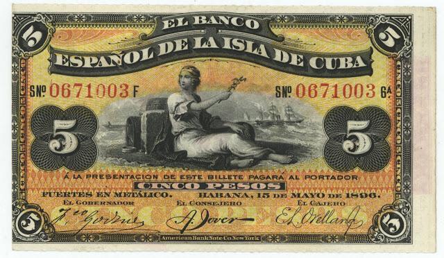 Cuba 5 Pesos Banknote