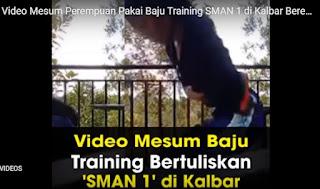 """Video Siswi SMAN 1 Kalbar Sedang """"Begituan"""" Marak di WA"""