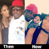 Runtown's Baby Mama shares before & after photo with him and their son