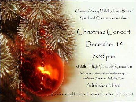 12-18 Christmas Concert, Oswayo Valley School