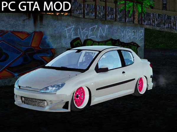 Free Download Peugeot 206 SD  Mod for GTA San Andreas.