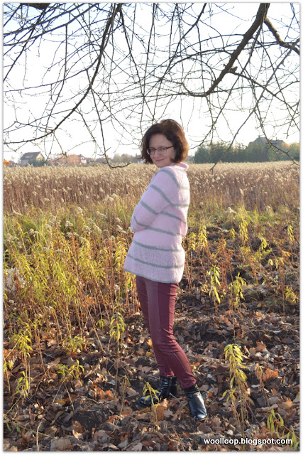 Sweter z włóczki alpakowej