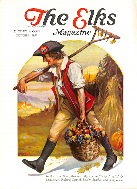 Cover by Paul Stahr for The Elks magazine 1928 October