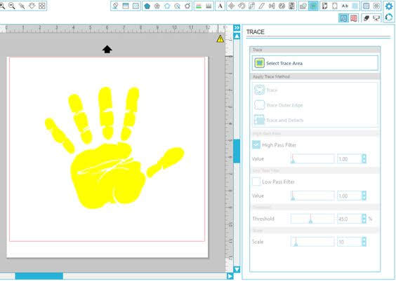 how to trace in silhouette studio, silhouette studio trace, how to trace in silhouette, inversion tracing, invert effect