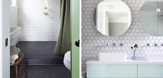 Marzua decorar con azulejos hexagonales - Azulejos hexagonales bano ...