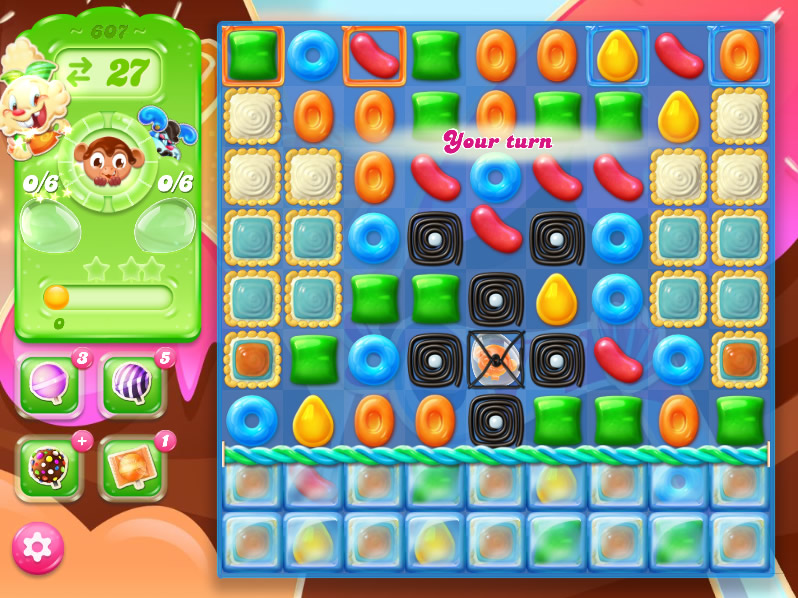 Candy Crush Jelly Saga level 607