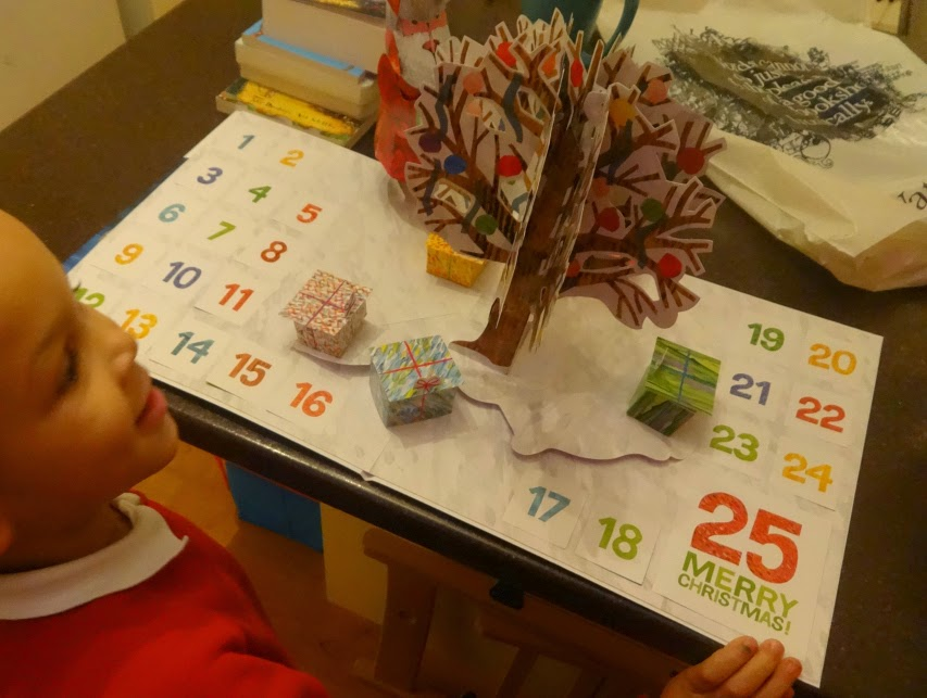 Large pop up advent calendar by Eric Carle