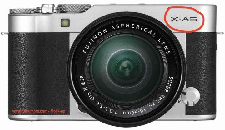 Возможный внешний вид Fujifilm X-A5