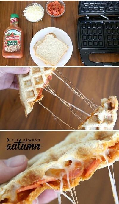 Pizza wafflewich