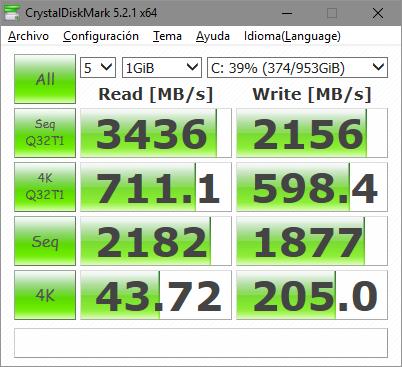 Samsung 960 PRO 1 TB - CrystalDiskMark benchmark