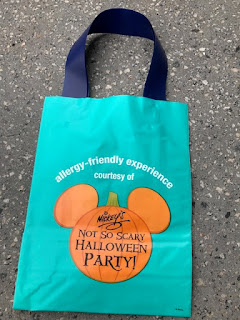 Mickey's Not So Scary Halloween Party allergy-friendly Teal Pumpkin treat bag
