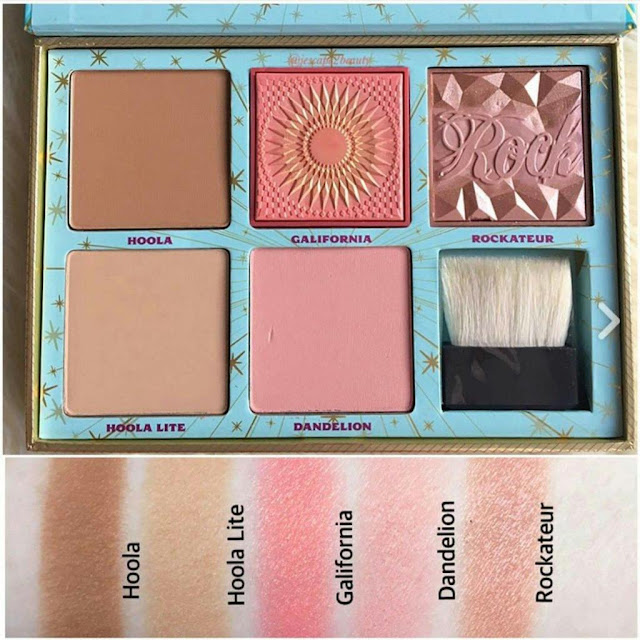 Benefit Cheek Parade Palette Swatches