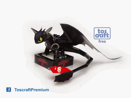 TOOTHLESS (How to Train Your Dragon 2) Papercraft