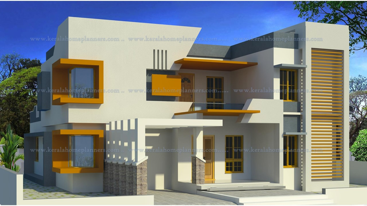 4 Bhk Modern Contemporary Home Design For 45 Lakhs With Pooja Room Free Kerala Home Plans