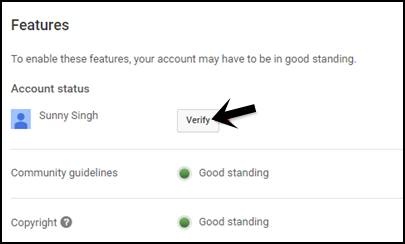 Verify button per click kare
