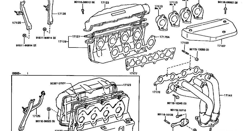 KP Gasket: Toyota Levin 20V 4AGE Manifold Gasket