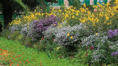 Otoño en el jardín de Claude Monet en Giverny