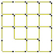 Matchstick Puzzles: 55. 4X4 Square: How many Squares?
