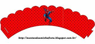 Wrappers para Cupcake para Imprimir Gratis de Spiderman.