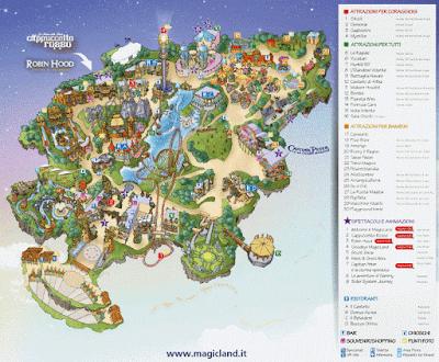 Mappa Rainbow Magicland 2019
