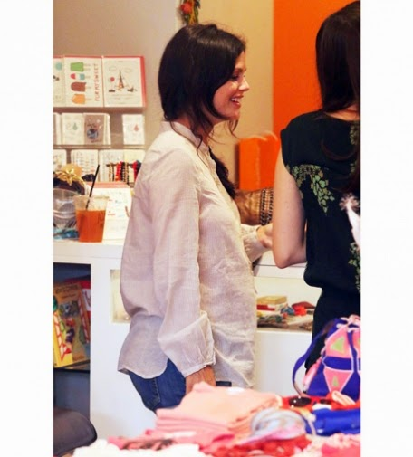 Rachel Bilson at the baby shopping with a friend