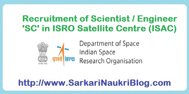 Naukri Vacancy Recruitment ISAC ISRO