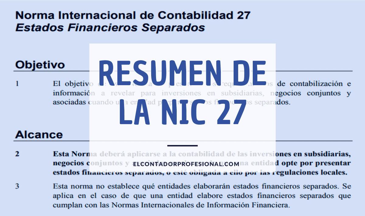 nic 27 resumen