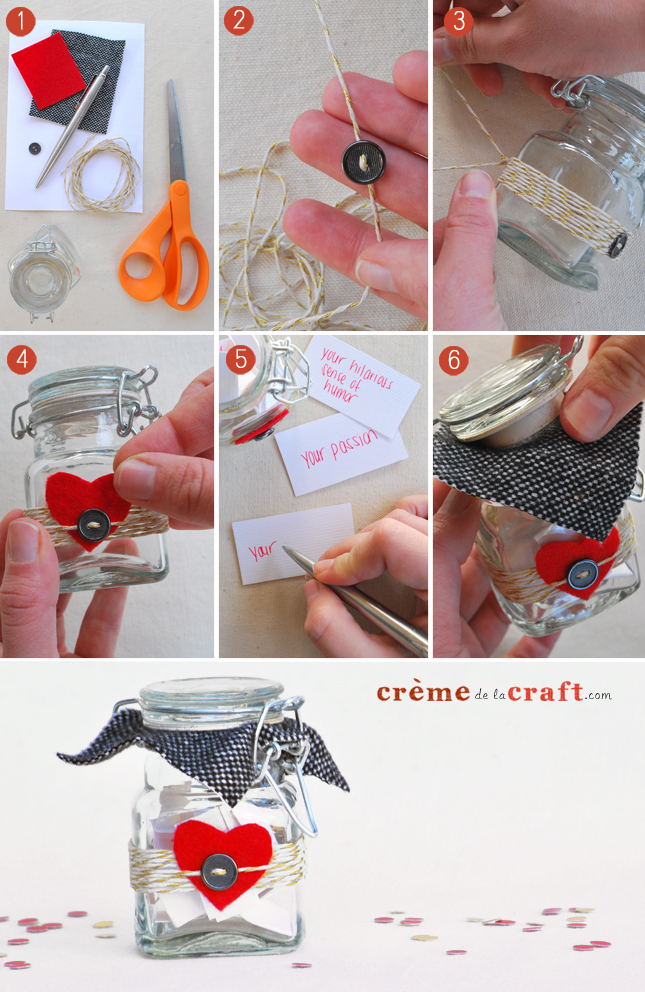 Diy 10 Things I Love About You Jar