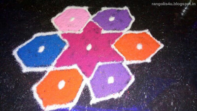 Multi Color Rangolis