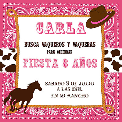 invitacion fiesta vaquera