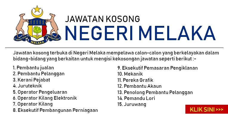 Jawatan Kosong di Negeri Melaka