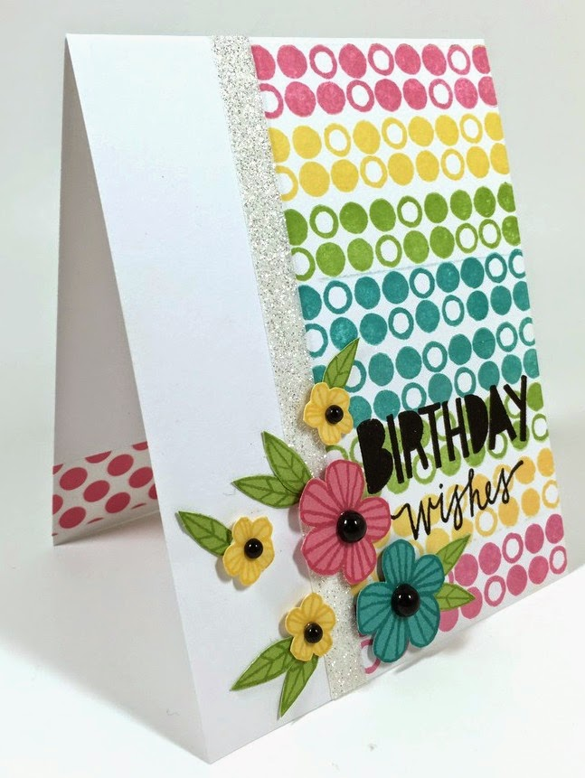 Stamped Birthday Wishes card