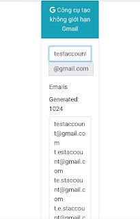 Công cụ tạo hàng ngàn gmail miễn phí