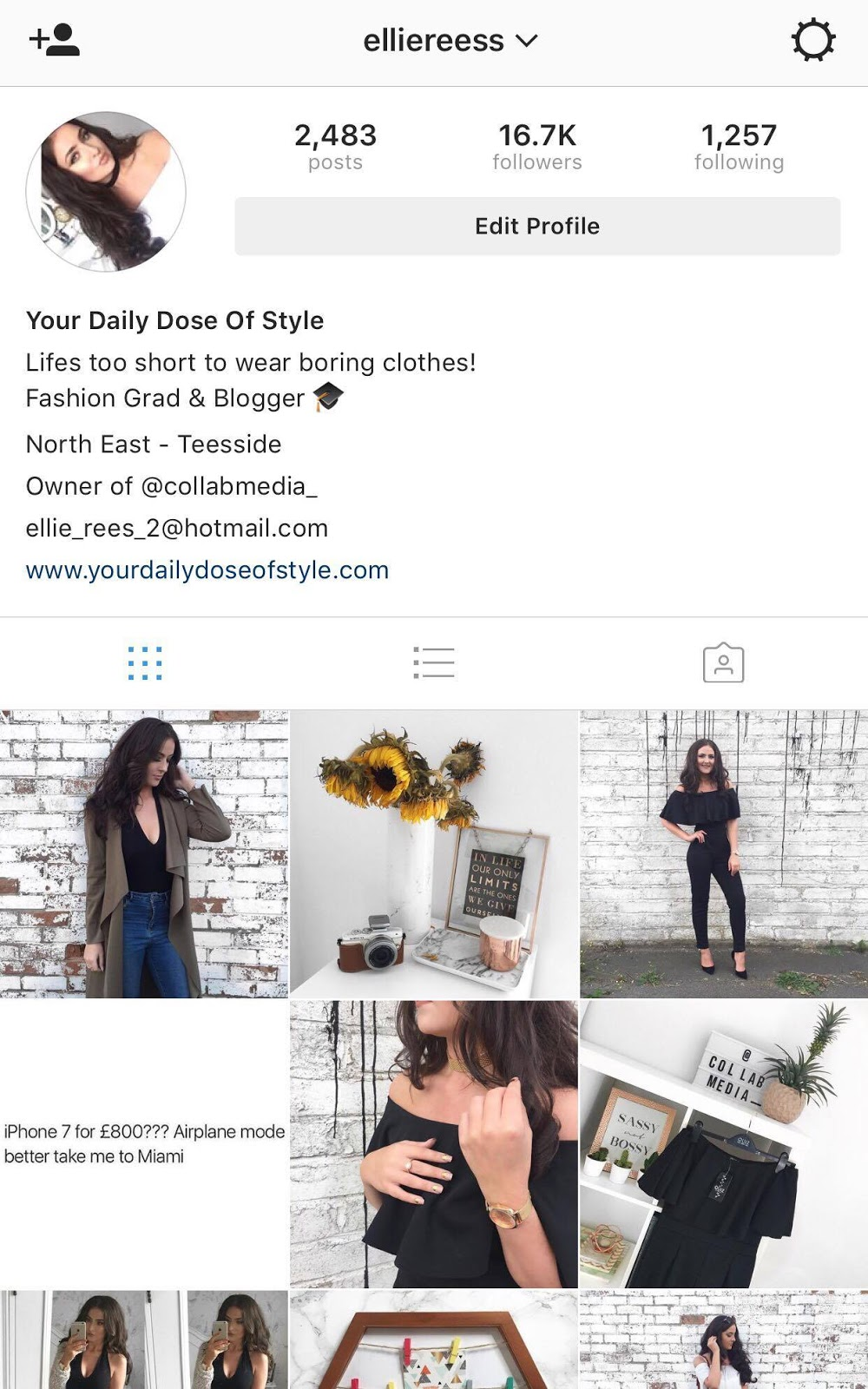 Ellie Rees Instagram Fashion Blogger