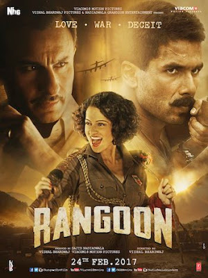 Poster of Rangoon 2017 Theatrical Official Trailer Free Download HD 720P