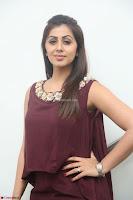 Nikki Galrani in a Brown Shining Sleeveless Gown at Nakshatram music launch ~  Exclusive 006.JPG