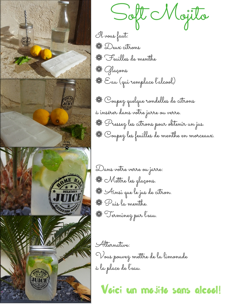 recette facile Soft Mojito sans alcool