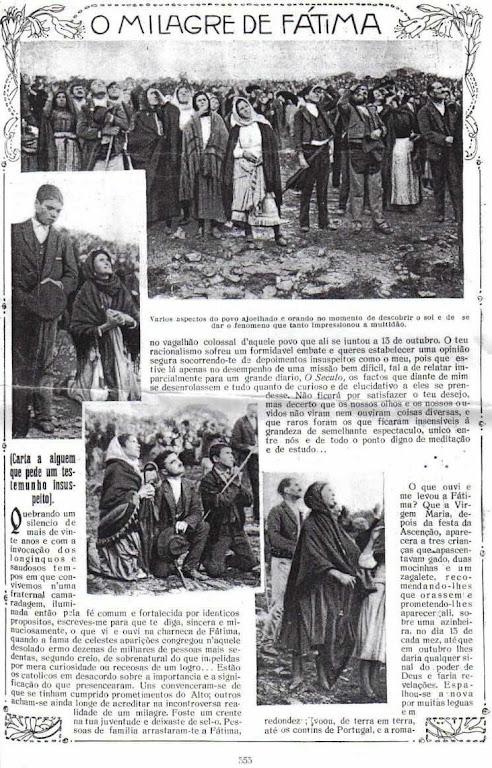 A última aparição de Fátima foi assistida por milhares de pessoas. Uma publicação da época