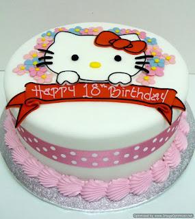 Những  chiếc  bánh kem sinh nhật Hello Kitty cực dễ thương dành cho bé