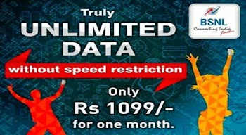 BSNL Unlimited Mobile Data pack