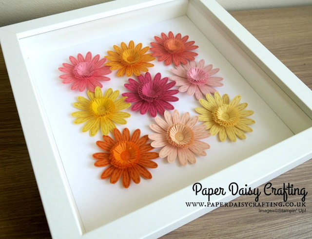 Quilled fringed flower centres with Daisy Delight from Stampin' Up!