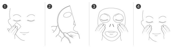 Missha Real Solution Tencel Sheet Mask - Anwendung