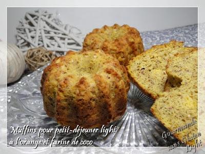gateau sans gluten à l'orange et farine de coco, pour régime sans sucre
