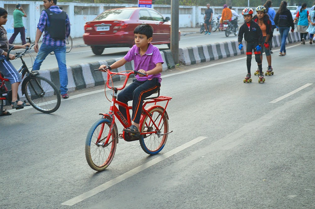 Happy Street Pune ITI road kid clycling