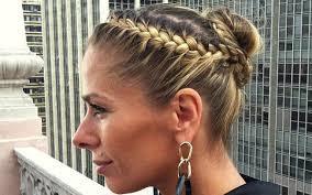 penteados com trancas coque